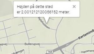 google map højde kort